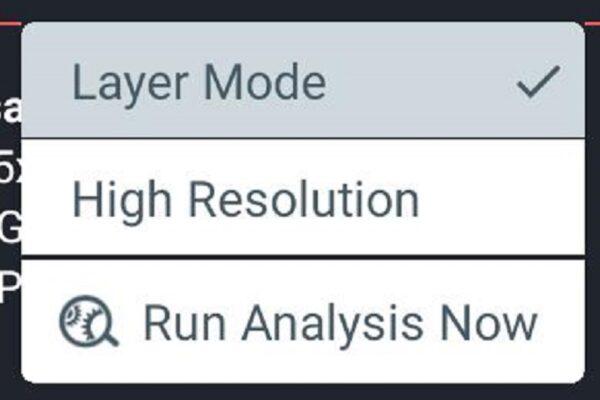 اجرای run analysis now